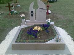 Dupla nyitott gránit síremlék